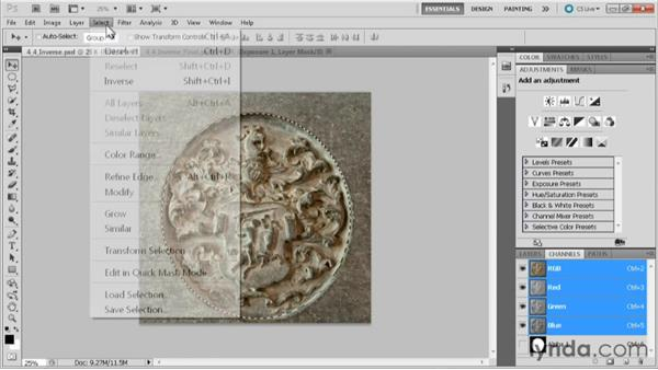 The Select Inverse command: Practical Photoshop CS5 Selections