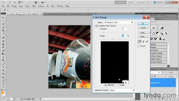 Using the Color Range command to select a color: Practical Photoshop CS5 Selections