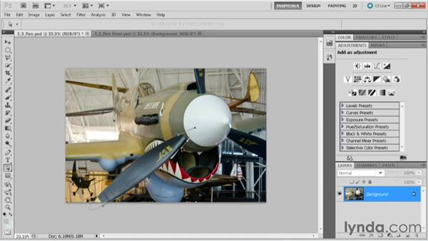 Making a selection with the Pen tool: Practical Photoshop CS5 Selections
