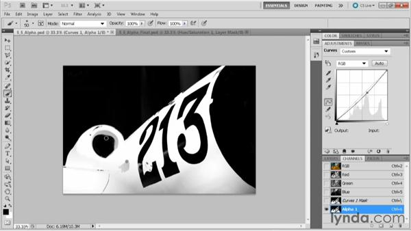 Saving a selection as an alpha channel: Practical Photoshop CS5 Selections