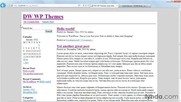 Handling search results: Dreamweaver and WordPress: Building Themes