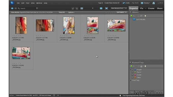 Importing photos from external drives: Photoshop Elements 10 Essential Training
