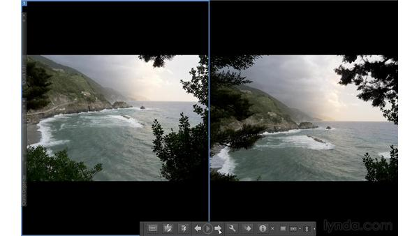 Comparing photos in Side by Side view: Photoshop Elements 10 Essential Training