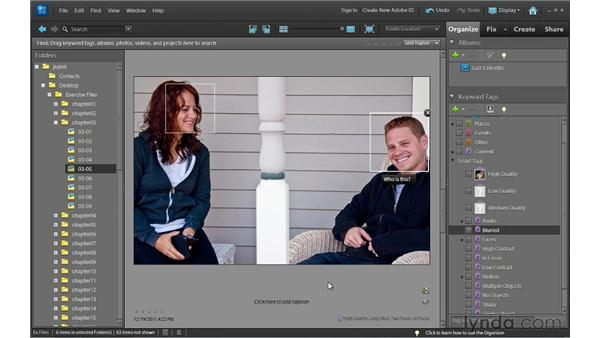Using automatic smart tagging: Photoshop Elements 10 Essential Training