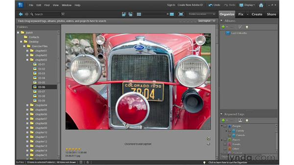 Assigning ratings to photos: Photoshop Elements 10 Essential Training