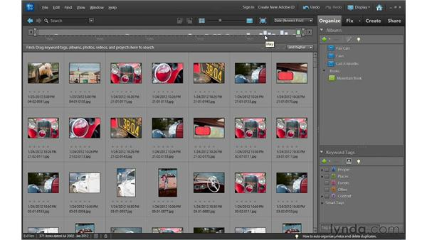 Finding photos in the Timeline: Photoshop Elements 10 Essential Training