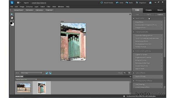 Choosing an editing workspace: Photoshop Elements 10 Essential Training