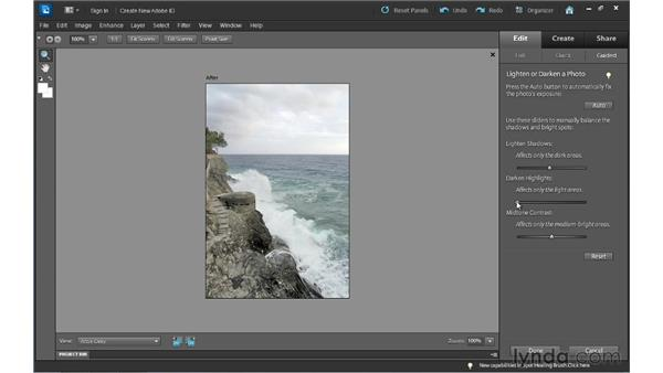 Editing with assistance: the Guided Edit workspace: Photoshop Elements 10 Essential Training