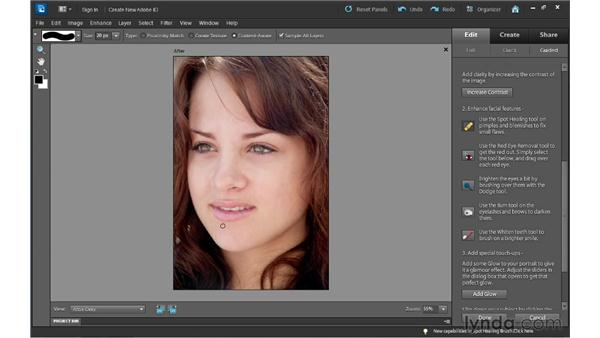Retouching a photo the step-by-step way: Photoshop Elements 10 Essential Training