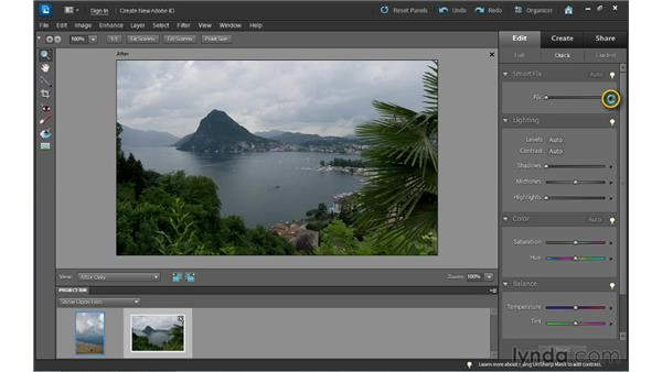 Applying Quick Edit corrections: Photoshop Elements 10 Essential Training
