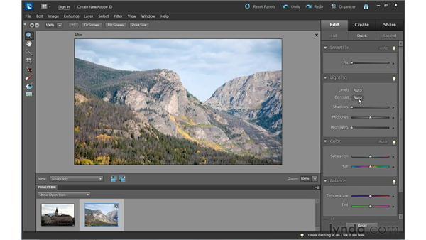 Adjusting lighting: Photoshop Elements 10 Essential Training