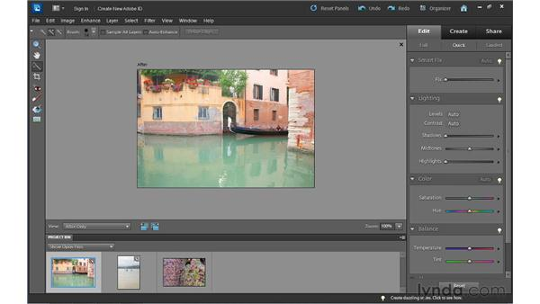 Correcting color: Photoshop Elements 10 Essential Training