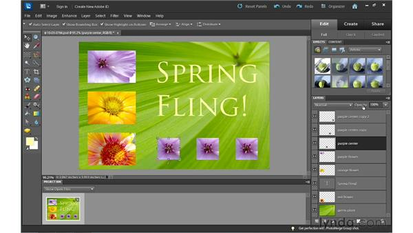 Tips for working with layers: Photoshop Elements 10 Essential Training
