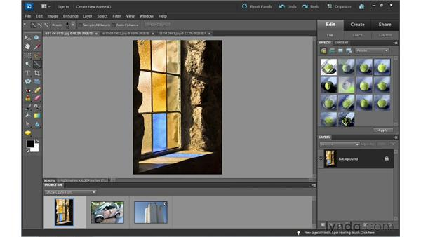 Using the automatic selection tools: Photoshop Elements 10 Essential Training