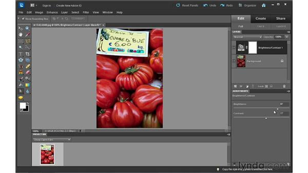 Understanding adjustment layers: Photoshop Elements 10 Essential Training