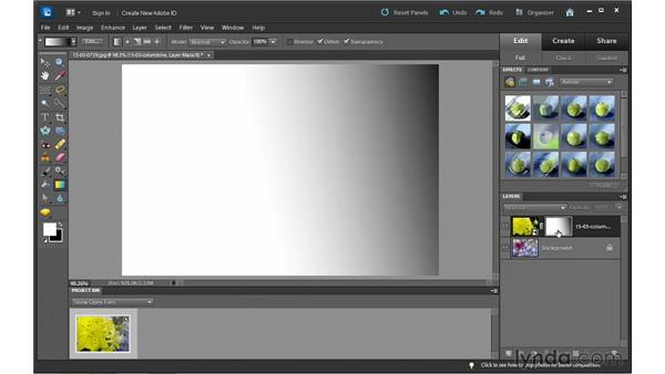 Blending images using a gradient: Photoshop Elements 10 Essential Training
