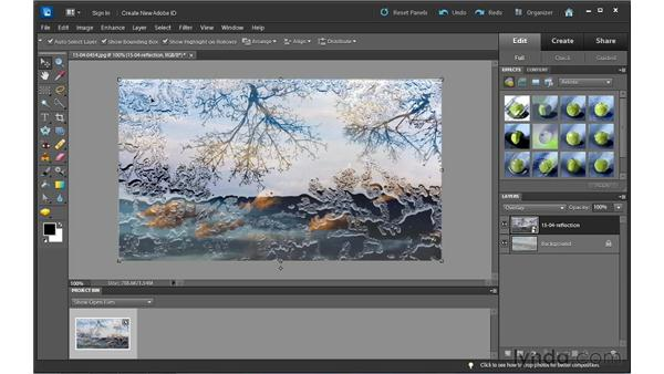 Blending images using Blend modes: Photoshop Elements 10 Essential Training