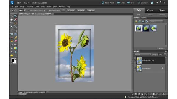 Adding effects: Photoshop Elements 10 Essential Training