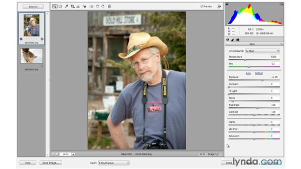 Enhancing photos with the Clarity, Vibrance, and Saturation controls: Photoshop Elements 10 Essential Training