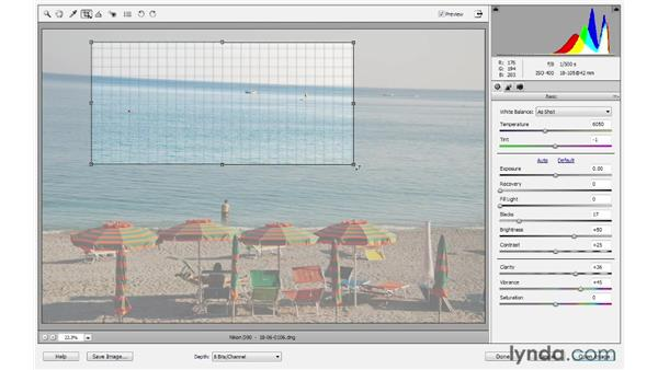 Cropping and straightening : Photoshop Elements 10 Essential Training