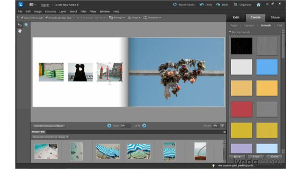 Completing the photo book: Photoshop Elements 10 Essential Training