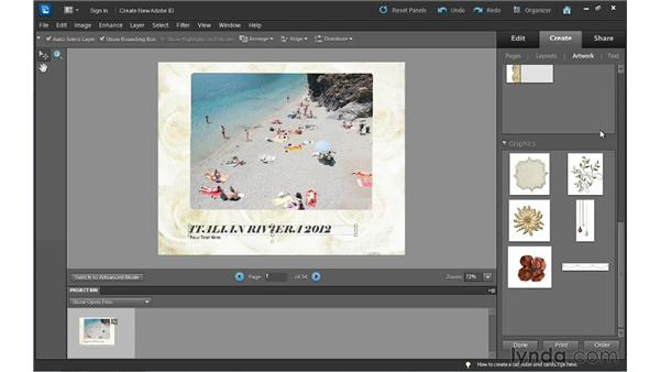 Creating a photo calendar: Photoshop Elements 10 Essential Training