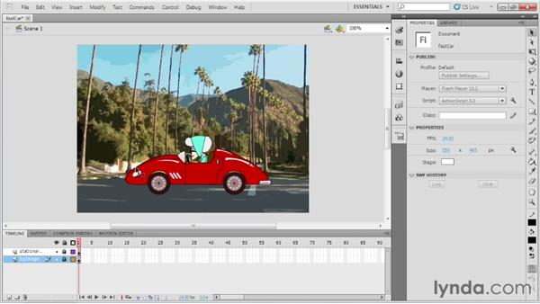 Organizing layers: Up and Running with Flash Professional