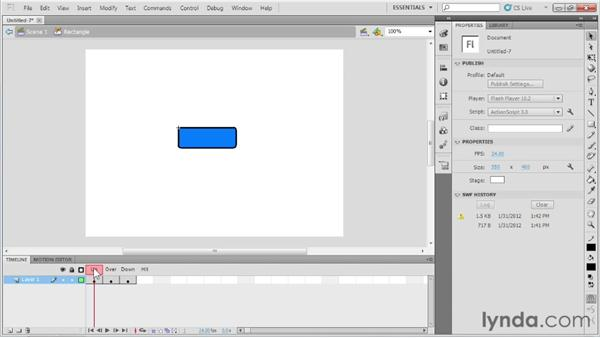 Introducing buttons : Up and Running with Flash Professional