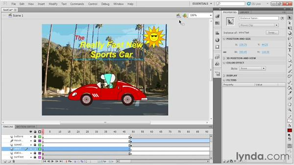 Using motion tweens in 3D space: Up and Running with Flash Professional