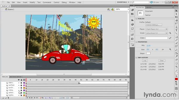 Defining shape tweens: Up and Running with Flash Professional