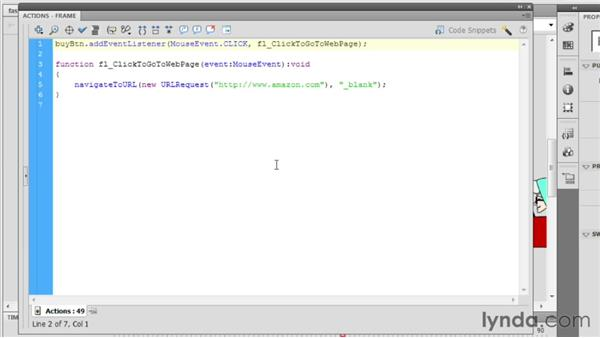 Linking to an external URL: Up and Running with Flash Professional