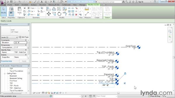 Creating multiple levels in Revit Architecture: Designing a House in Revit Architecture