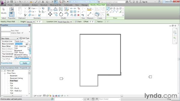 Creating foundation walls: Designing a House in Revit Architecture
