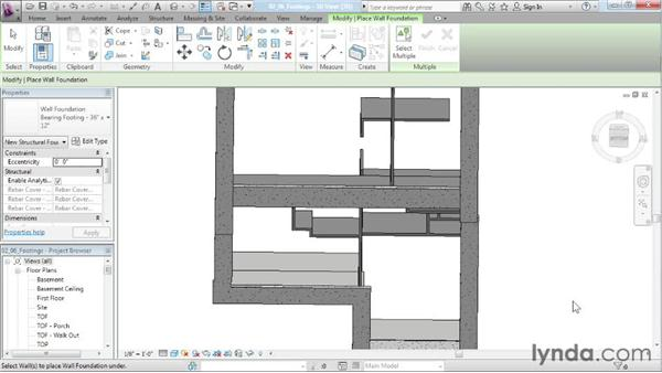 Creating footings: Designing a House in Revit Architecture