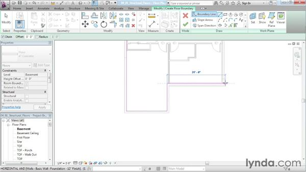 Adding structural floors to the project: Designing a House in Revit Architecture