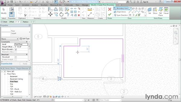 Adding finish floors to each room: Designing a House in Revit Architecture