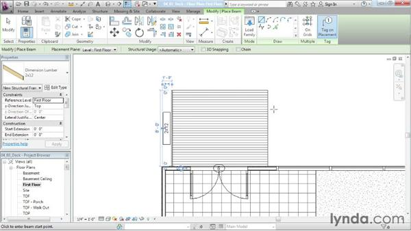 Designing an exterior deck: Designing a House in Revit Architecture