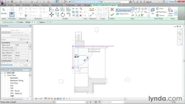 Creating a gable roof: Designing a House in Revit Architecture