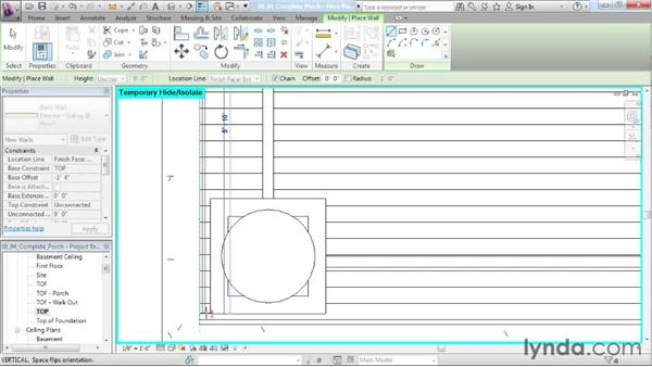 Tying the roof to the structure: Designing a House in Revit Architecture