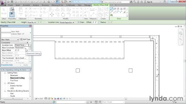 Adjusting the ceiling for stairs: Designing a House in Revit Architecture