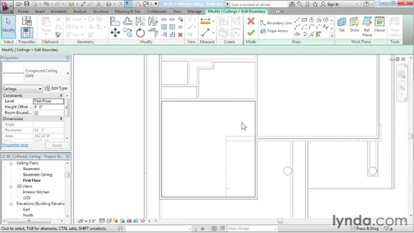 Creating a coffered ceiling: Designing a House in Revit Architecture