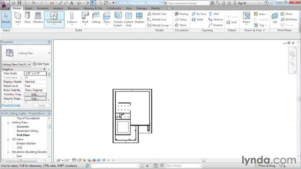 Placing ceiling lights: Designing a House in Revit Architecture