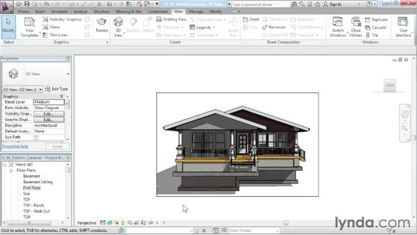 Creating an exterior camera: Designing a House in Revit Architecture