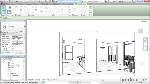 Creating an interior camera: Designing a House in Revit Architecture