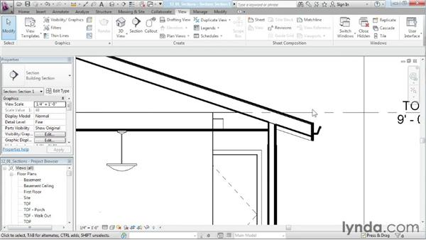 Creating section views: Designing a House in Revit Architecture