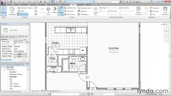 Creating an enlarged plan: Designing a House in Revit Architecture
