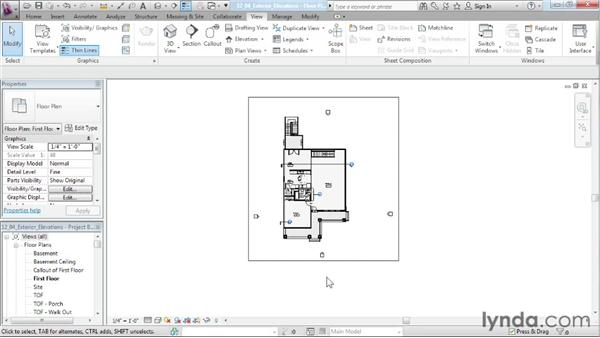 Creating exterior elevation views: Designing a House in Revit Architecture