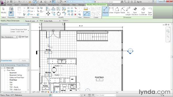 Dimensioning: Designing a House in Revit Architecture