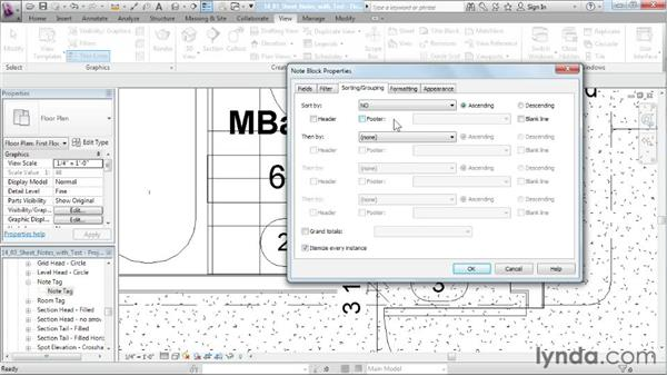 Adding notes with text: Designing a House in Revit Architecture