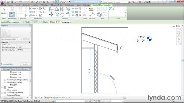 Creating detail views: Designing a House in Revit Architecture